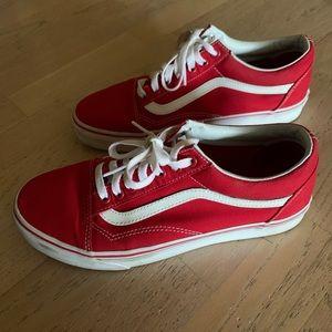red vans old skool sneakers
